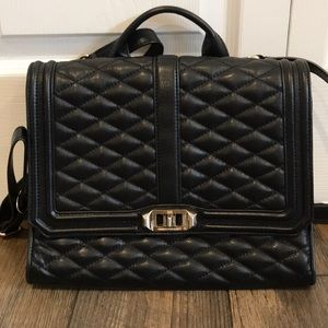 Rebecca Minkoff Black Quilted Back Pack